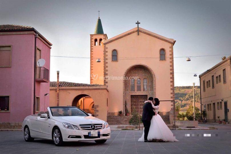Mercedes bianca cabrio
