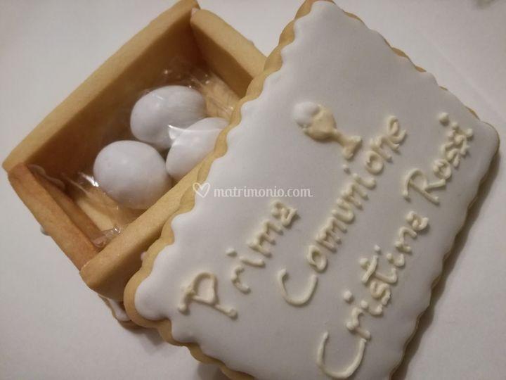 Scatola biscotto confetti