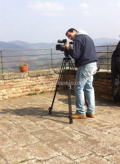 Filmando la location