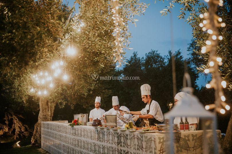 Cucina a vista Chef Andrea Ser