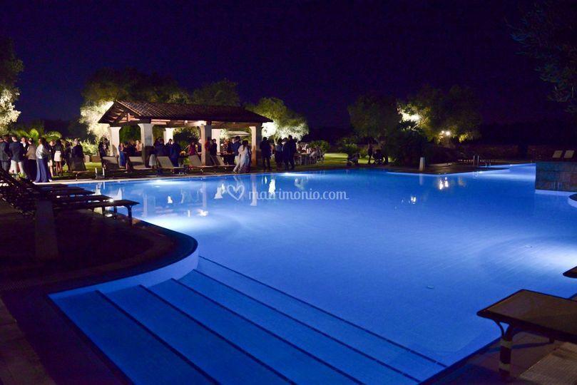 Wedding piscina