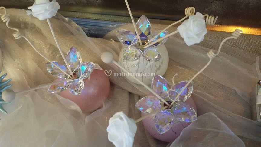 Profumatori fiore cristallo