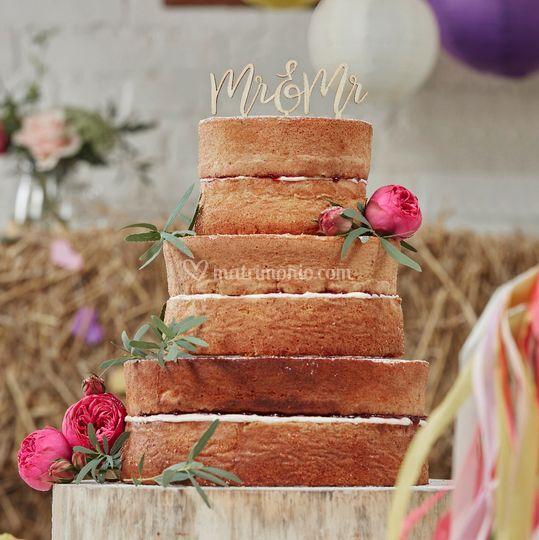 Cake topper rustico