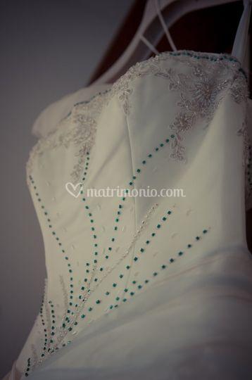 Dettaglio abito sposa