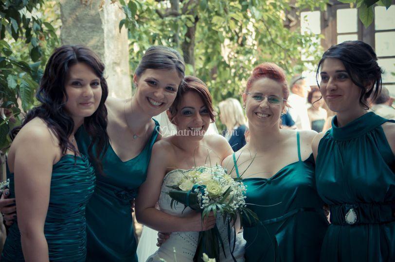 Sposa e damigelle
