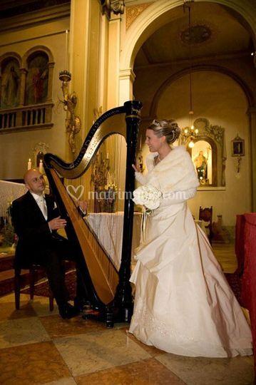 Sposi con Arpa Classica