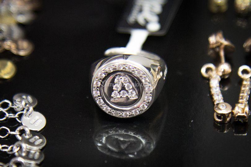 Mype anello lettera argento