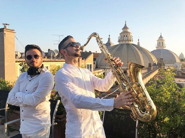 sassofonista matrimonio
