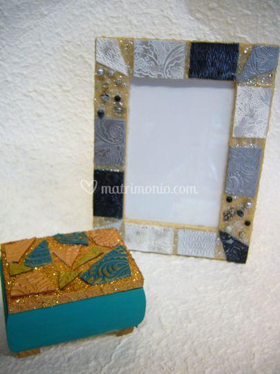 Bomboniera effetto mosaico
