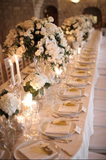 Un matrimonio total white