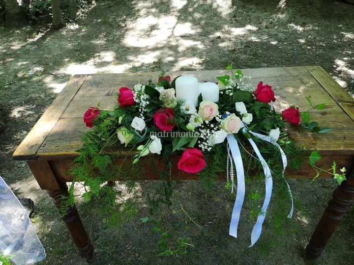 Tavolo sposi - esterno