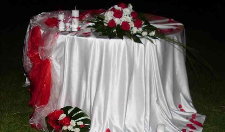 Wedding table cake