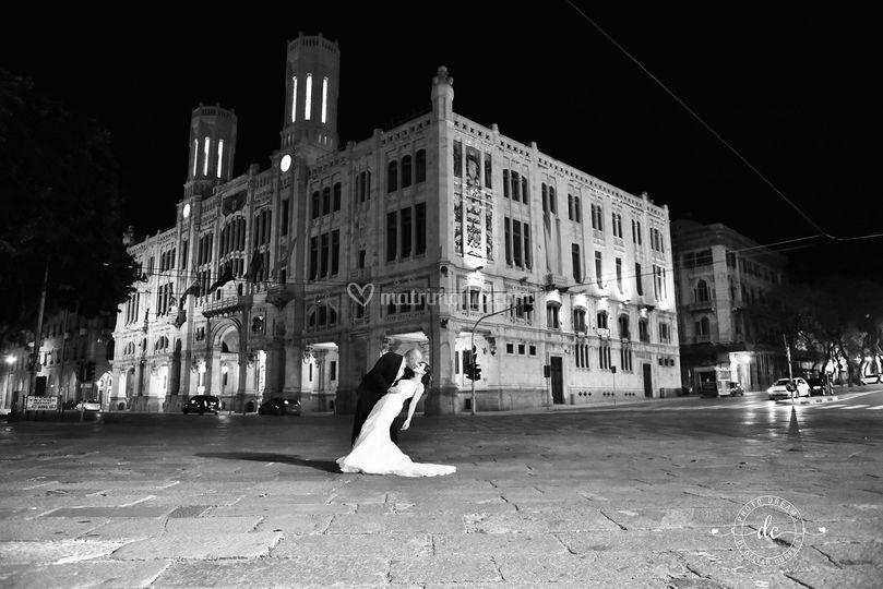 Foto sposi cagliari by night