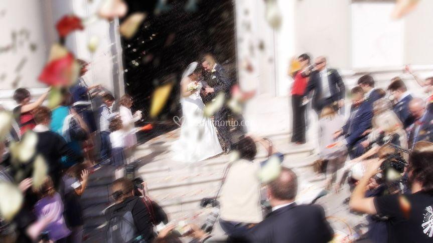 Cerimonia: uscita sposi