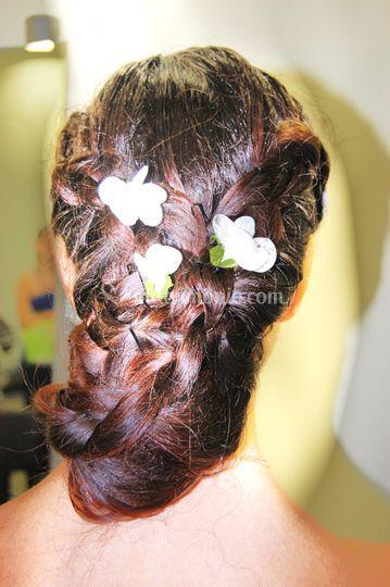 Raccolto con fiori di seta