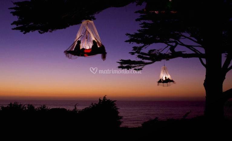 Un campo tendato in california