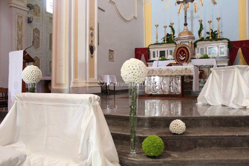 Allestimento Chiesa, sfere