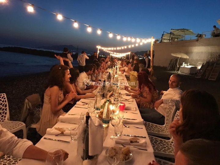 Tavolo imperiale in spiaggia
