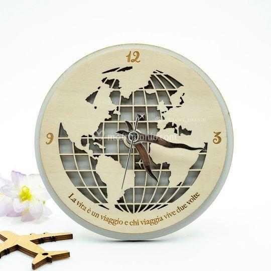 Orologio legno 15CM