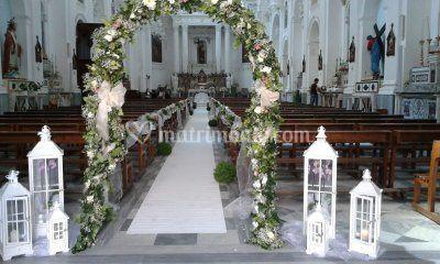 Addobbo navata con arco