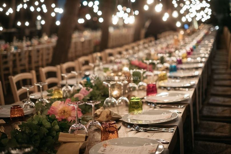Boho table decorations