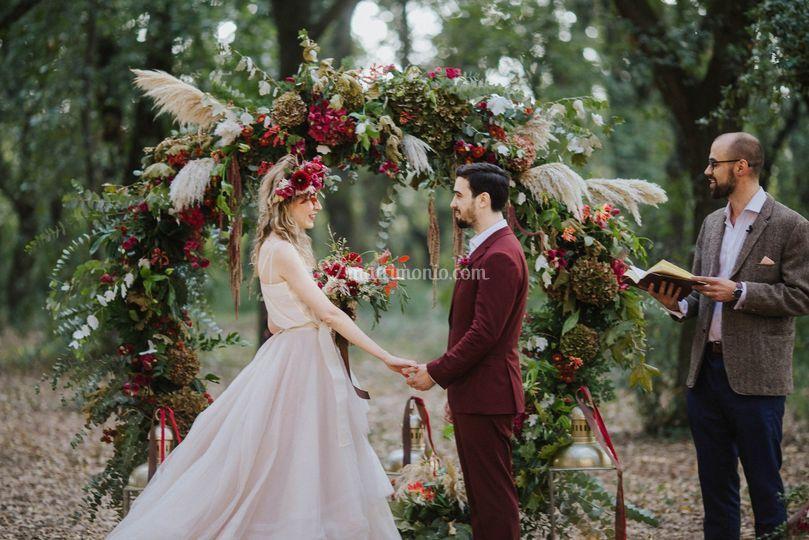Forest wedding in Salento