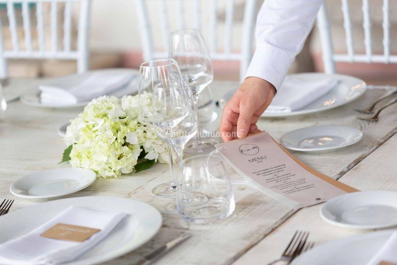 Menu al tavolo
