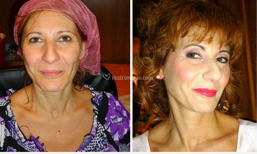Prima e dopo mamma sposa