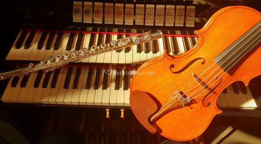Organo, flauto e violino