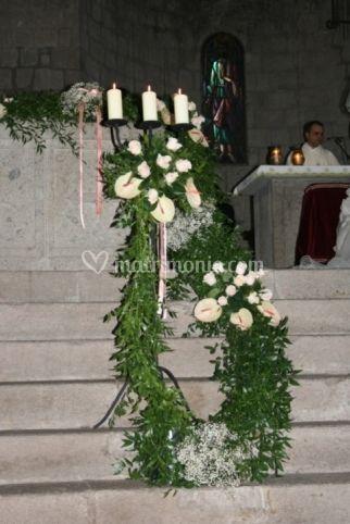 Disposizione per l'altare