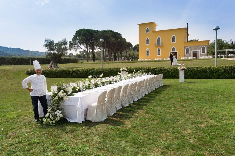 Pranzo Nuziale Puglia : Matrimonio regale in costiera sorrentina la sala del pranzo