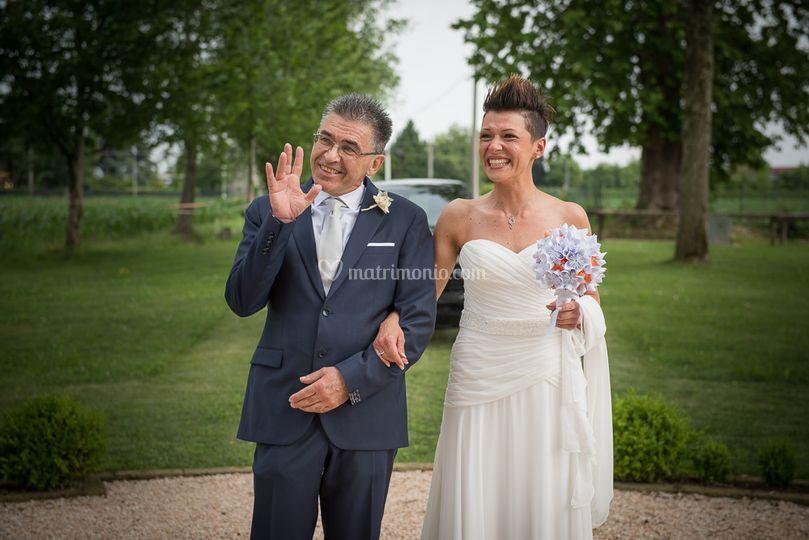 Matrimonio in bianco e arancio