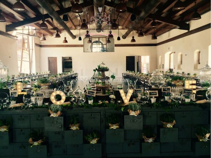Country-Vintage Wedding