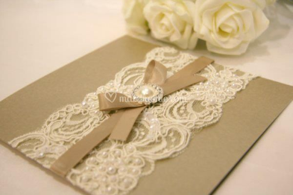 Wedding Invitation in White