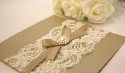 Wedding Invitation in White 1