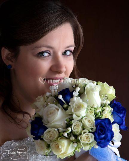 Sposa e bouquet