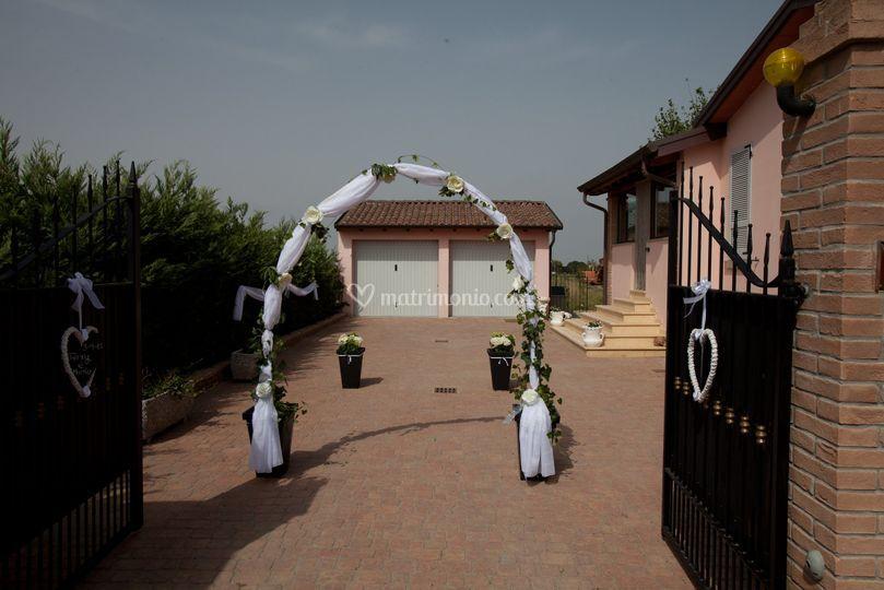 Casa dove esce la sposa