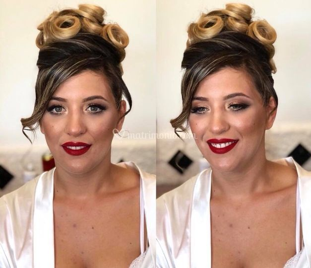 Rosso Rossetto make up sposa