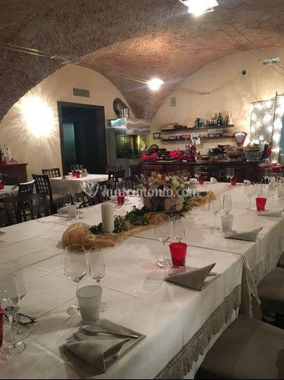 Tavolo reale in Sala Camino