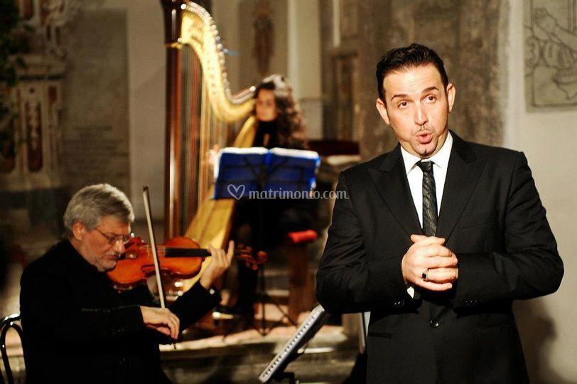 Arpa, violino, organo e tenor