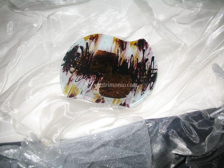 Porta cioccolatini in vetro