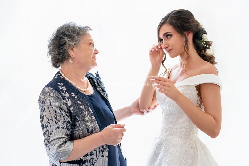 The bride with her grandmother
