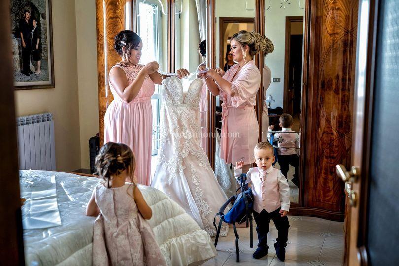 The bride Gabriela