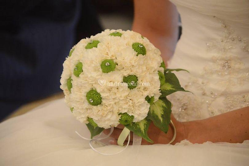 Bouquet garofano e santino