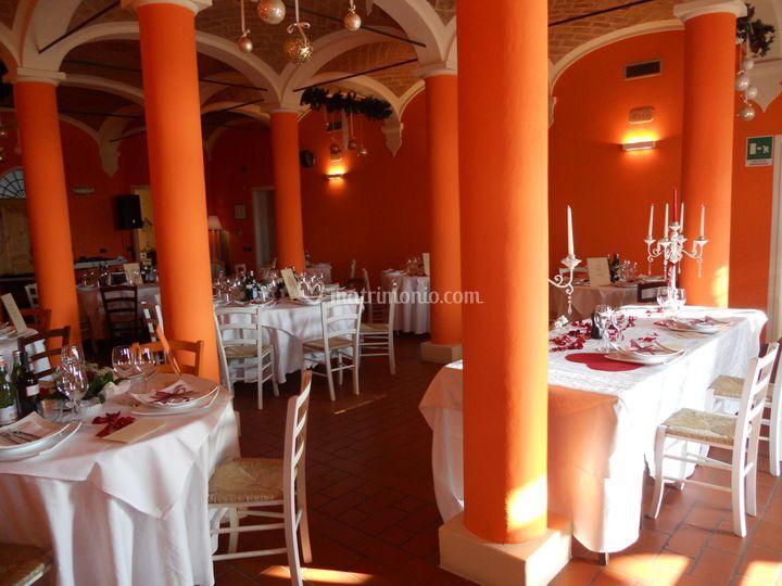 La sala matrimonio arancio