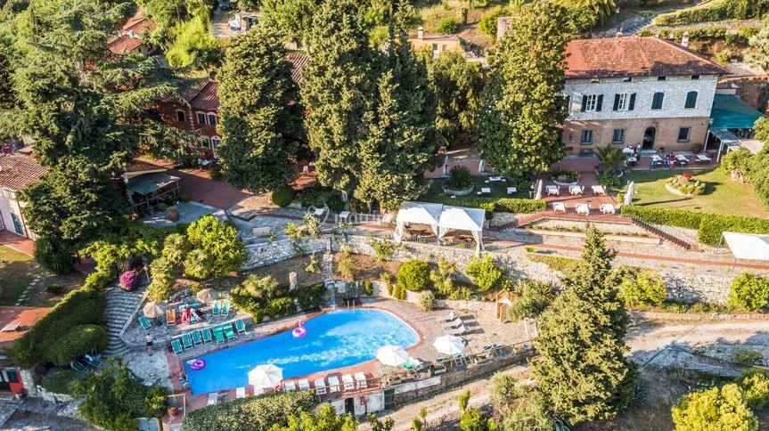Borgo degli aranci vista drone