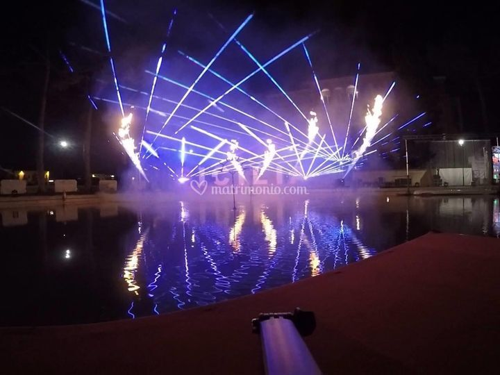 Laser e fiamme