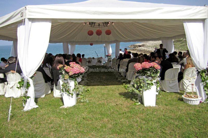 Cerimonia sul mare all'aperto