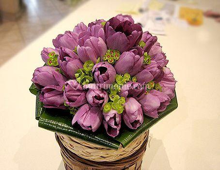 Bouquet lilla e verde