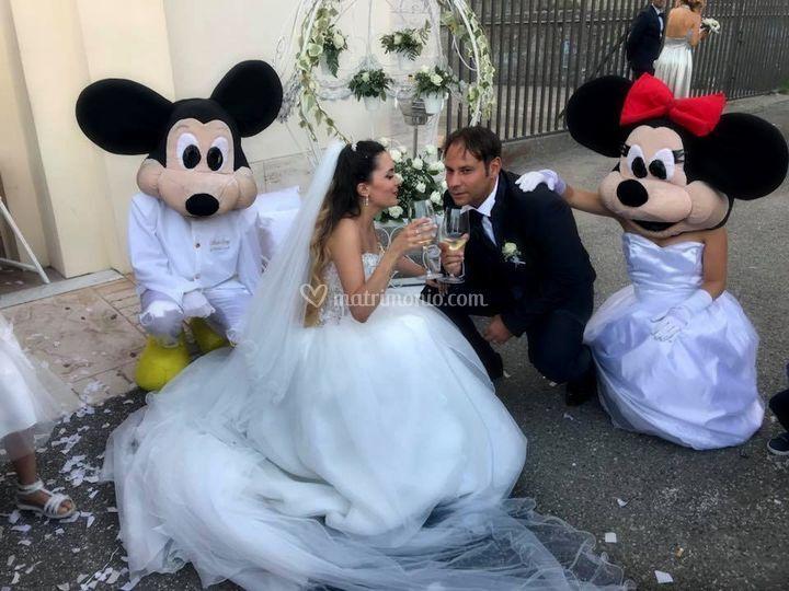 Matrimonio con Minnie e Topoli